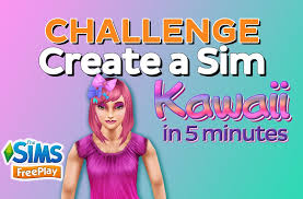 the sims freeplay create a sim kawaii in 5 minutes youtube
