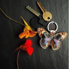 butterfly key chain multicolour tovi sorga