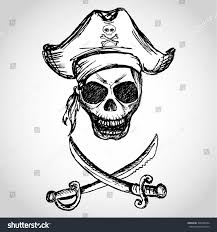 royalty free pirate skull with hat and crossed u2026 308788694 stock