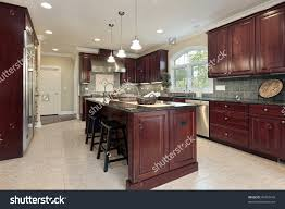 oak wood natural madison door cherry cabinets kitchen backsplash