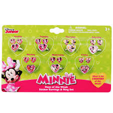 minnie mouse earrings 21pc disney minnie mouse rings earrings jewelry set