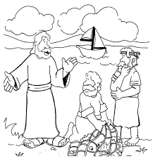 jesus calls the first disciples coloring page at and coloring page