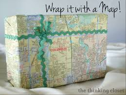 map wrapping paper roll diy wrapping paper tutorial the thinking closet