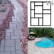 Concrete Driveway Paver Molds by 2x Driveway Paving Pavement Mold Concrete Stepping Stone Pathmate