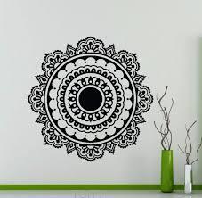 mandala vinyl decal mehndi ornament namaste lotus flower wall