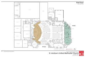 floor plan for classroom first floor of the church st andrews united methodist church