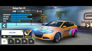 dodge dart gt top speed upgrades dodge dart gt asphalt 8 airborne android