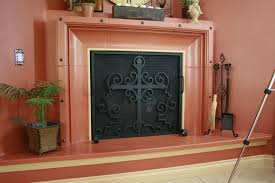 hand crafted hand forged fireplace screens by demejico inc