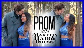 prom 2015 makeup hair u0026 dress youtube