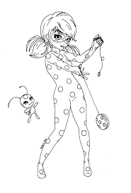 print miraculous ladybug and cat noir very happy coloring pages