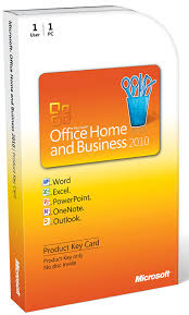 microsoft office home and business 2010 1 user product key card
