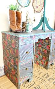 Diy Furniture Ideas by How To Decoupage A Desk Refunk My Junk Decoupage Furniture
