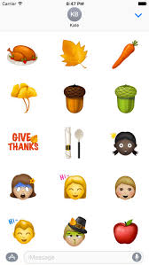 thanksgiving sticker happy emoji on the app store