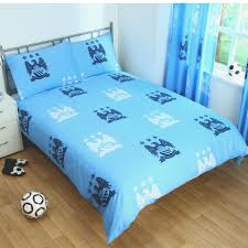 Blue Spot Duvet Cover Manchester City Duvet Cover Sets Crest Blue Football Bedding