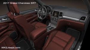 Jeep Grand Cherokee Srt Interior New Colour Leather Interior Might Look Like This Jeep Garage