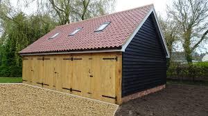 home builder bespoke oak cartlodges garages suffolk cart bay garage with loft store built raft foundation drinkstone design build suffolk cart lodges
