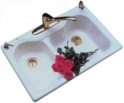 Green Kitchen Sink by Double Bowl Kitchen Sinks Porcelain Looks With Cast Iron Strength