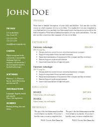 resume template word free word document resume templates resume word template free