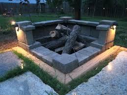 Cheap Diy Backyard Ideas Fire Pits Landscape Block Fire Pit Ideas Diy Backyard Designs