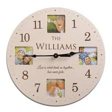 personalized clocks with pictures family clock aol image search results