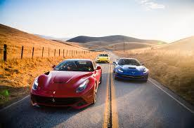 porsche 911 vs corvette chevrolet corvette stingray vs f12 vs porsche 911