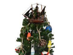 Beach Christmas Tree Topper - caribbean pirate ship christmas tree by nauticalbeachdecor on etsy