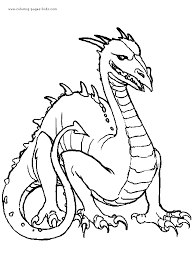 dragon color fantasy medieval coloring pages color plate