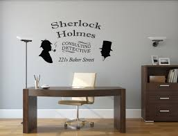 sherlock holmes wall decal consulting detective room wall decor sherlock holmes wall decal consulting detective room wall decor vinyl decal sticker art dr watson