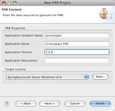 creating an application with dm server