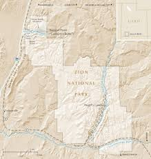 Map Of Zion National Park Anandaroop Roy Colburn U0027s Butte