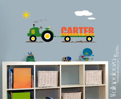 tractor wall decal wall decor boys room wall decal