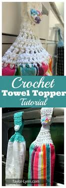 pattern crochet towel holder beginner crochet towel topper tutorial taylor lynn