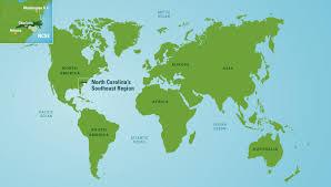 carolina world map map center carolina s southeast