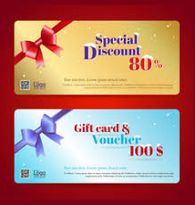 gift cards discount discount gift card and voucher template vector image