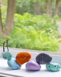 garden rock caterpillar an easy kids craft tutorial