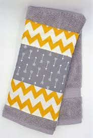 Decorate Bathroom Towels Arrow Towels Gray And Yellow Tribal Decor Bathroom Decor