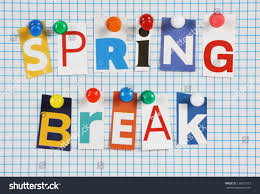 words spring break cut out magazine stock photo 138025715