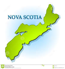 Nova Scotia Canada Map by Nova Scotia Map Outline Isolated Royalty Free Stock Photography