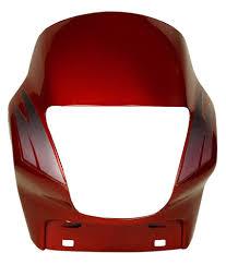 motorcorp hero motorcorp headlight visor for hero passion plus red buy