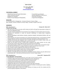 Procurement Sample Resume by Senior Financial Analyst Sample Resume Free Resume Example And