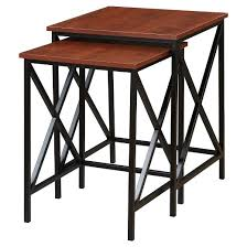 Tucson Nesting End Tables Cherry Black Convenience Concepts