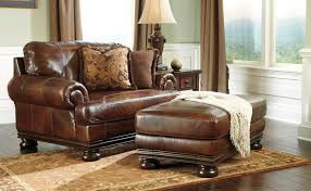 leather chair and a half with ottoman furniture alluring leather chair and ottoman for cozy home