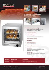burco 20 pie capacity pie cabinet pc20 commercial catering equipment