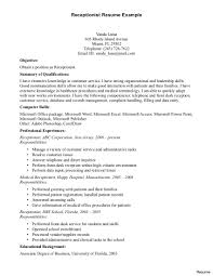 resume wording exles receptionist resume exles clinical sle word sles resumes