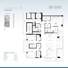 Antilla Floor Plan by Sage Beach Hollywood Condos For Sale And Rent Bogatov Realty