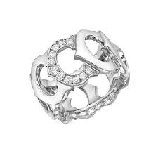 cartier diamond ring cartier white gold diamond c de cartier ring betteridge