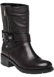 leather boots biker aquatalia sami leather biker boots in black lyst