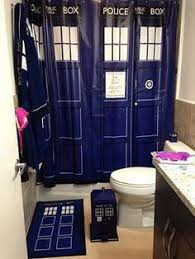 dr who doctor who tardis bathroom personalized his her embroidered