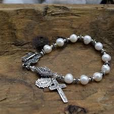 pearl rosary freshwater pearl rosary bracelet heavenlybound