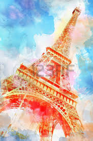 2 866 eiffel tower drawing stock vector illustration and royalty